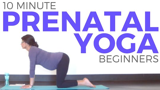 Instant Access to 10 minute Prenatal Beginner Routine by Sarah Beth Yoga, powered by Intelivideo