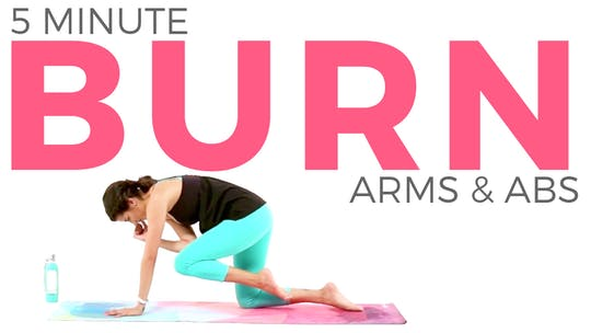 Instant Access to 5 minute BURN Arms & Abs Routine by Sarah Beth Yoga, powered by Intelivideo