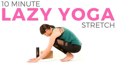 10 minute Lazy Yoga Routine | Gentle & Easy Yoga Stretches by Sarah Beth Yoga