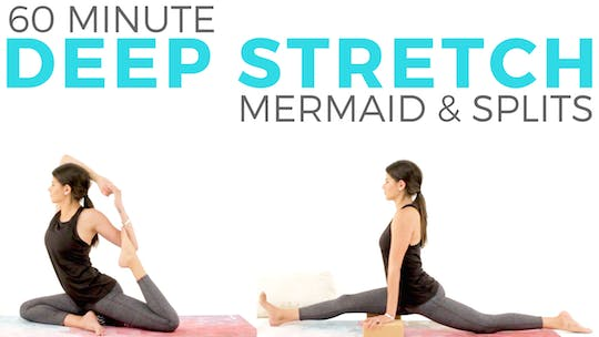 Instant Access to 60 minute Deep Stretch for Mermaid & Splits by Sarah Beth Yoga, powered by Intelivideo