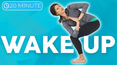 20 minute Morning Yoga Full Body Flow 💙 WAKE UP with Intention by Sarah Beth Yoga
