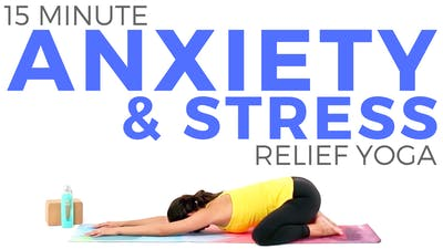 Instant Access to 15 minute Yoga for Anxiety & Stress by Sarah Beth Yoga, powered by Intelivideo