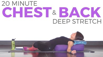 20 Minute Deep Stretch for Chest & Back by Sarah Beth Yoga