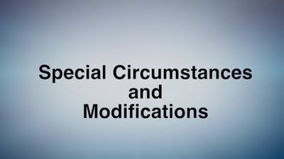 Special Circumstances and Modifications by MELT On Demand