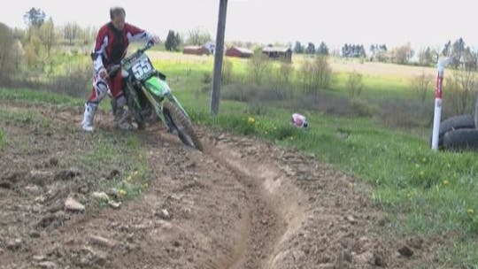 Instant Access to VO3 Video #5 Motocross Berm (Rutted) Cornering Techniques. by Gary Semics MX Schools, powered by Intelivideo
