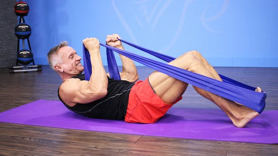 Instant Access to Intermediate Pilates Matwork with Resistance Band by John Garey TV, powered by Intelivideo