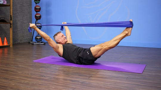 Instant Access to Pilates Mat Strength Workout with Band by John Garey TV, powered by Intelivideo