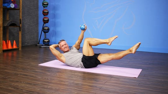 Mat Workout with Band Circle and Toning Balls by John Garey TV