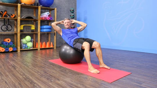 9-28-16 Pilates Mat Abs with Stability Ball by John Garey TV, powered by Intelivideo