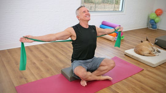 Instant Access to Beginner Mat Workout with Resistance Band 1-2-19 by John Garey TV, powered by Intelivideo