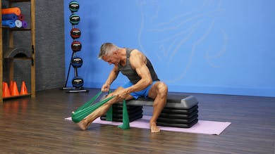 Beginner Mat with Band and Bench Workout for De-conditioned Clients by John Garey TV