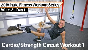 Instant Access to 20 Minute Fitness Workout Series - Cardio Strength Circuit Workout 1 by John Garey TV, powered by Intelivideo
