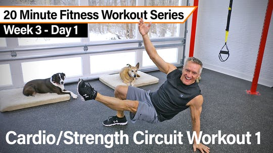 20 Minute Fitness Workout Series - Cardio Strength Circuit Workout 1 by John Garey TV
