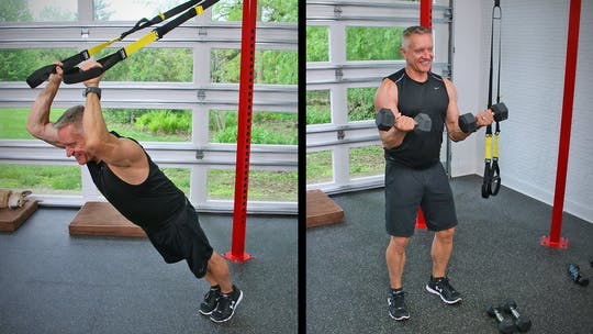 20 Minute Fitness Series - All Arms Superset with TRX and Weights by John Garey TV, powered by Intelivideo