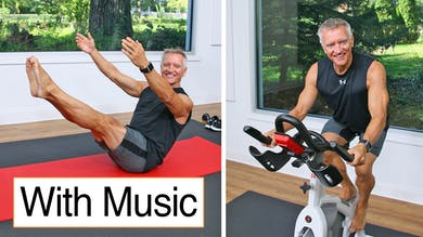 Cycle and Mat Workout with Music 10-9-20 by John Garey TV