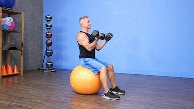 Upper Body Circuit with Swiss Ball and Dumbbells by John Garey TV