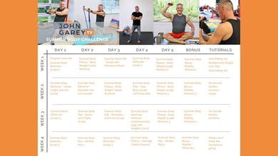 JGTV Summer Body Challenge Calendar by John Garey TV