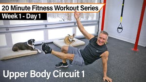 Instant Access to 20 Minute Fitness Workout Series - Upper Body Circuit 1 by John Garey TV, powered by Intelivideo