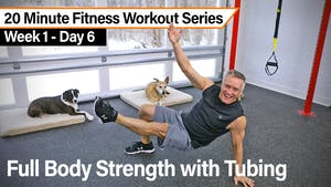 Instant Access to 20 Minute Fitness Workout Series - Full Body Strength with Tubing by John Garey TV, powered by Intelivideo