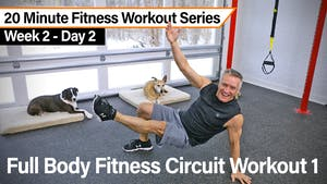Instant Access to 20 Minute Fitness Workout Series - Full Body Fitness Circuit Workout by John Garey TV, powered by Intelivideo