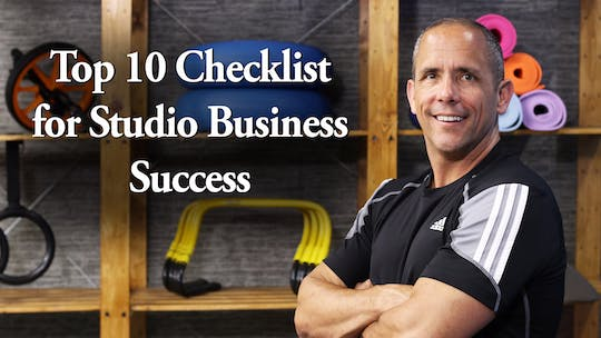 Instant Access to Top 10 Checklist for Studio Business Success by John Garey TV, powered by Intelivideo