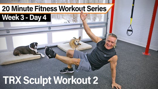 20 Minute Fitness Workout Series - TRX Sculpt Workout 2 by John Garey TV