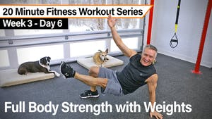 Instant Access to 20 Minute Fitness Workout Series - Full body Strength with Weights by John Garey TV, powered by Intelivideo