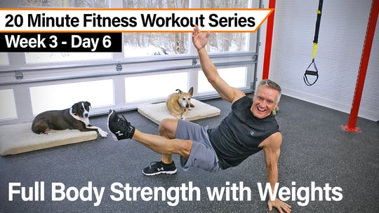 20 Minute Fitness Workout Series - Full body Strength with Weights by John Garey TV