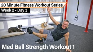 Instant Access to 20 Minute Fitness Workout Series - Med Ball Strength Workout 1 by John Garey TV, powered by Intelivideo