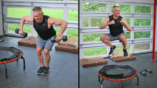 20 Minute Fitness Series - Trampoline and Weights Tabata by John Garey TV, powered by Intelivideo