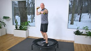 20 Minute High Intensity Trampoline Workout by John Garey TV