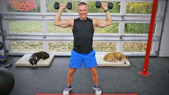 Instant Access to 20 Minute Workout Series - Full body Strength with Weights by John Garey TV, powered by Intelivideo