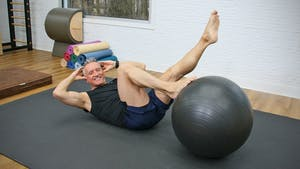 20 Minute Intermediate Pilates Mat and Swiss Ball Workout by John Garey TV