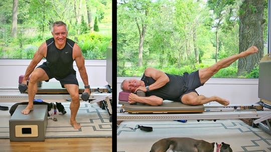 Summer Body Reformer Workout - Jumpboard and Legs with Weights Circuit by John Garey TV, powered by Intelivideo