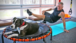 Instant Access to 20 Minute Fitness Series - Trampoline and Body Weight Interval Workout by John Garey TV, powered by Intelivideo