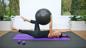 Beginner Pilates Mat with Swiss Ball by John Garey TV