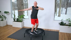 20 Minute High Intensity Trampoline Workout 2 by John Garey TV