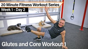 Instant Access to 20 Minute Fitness Workout Series - Glutes and Core Workout by John Garey TV, powered by Intelivideo