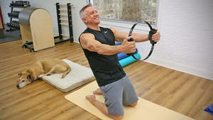 Instant Access to Intermediate Mat with Flexband and Fitness Circle 12-12-18 by John Garey TV, powered by Intelivideo