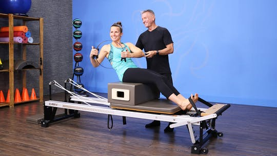 Instant Access to Fitness Reformer Workout with Sarah 1-22-18 by John Garey TV, powered by Intelivideo