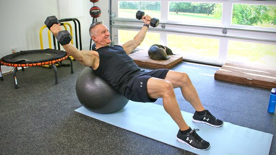 Summer Body Sculpt with Weights and Swiss Ball by John Garey TV, powered by Intelivideo