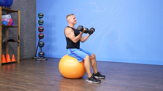 Upper Body Circuit with Swiss Ball and Dumbbells by John Garey TV, powered by Intelivideo