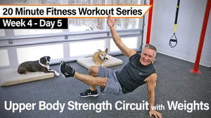 Instant Access to 20 Minute Fitness Workout Series - Upper Body Strength Circuit with Weights by John Garey TV, powered by Intelivideo