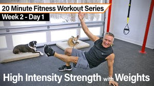 Instant Access to 20 Minute Fitness Workout Series - High Intensity Strength with Weights by John Garey TV, powered by Intelivideo