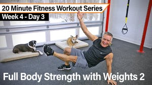 Instant Access to 20 Minute Fitness Workout Series - Strength Circuit with Weights 2 by John Garey TV, powered by Intelivideo