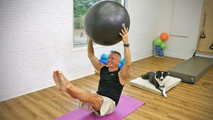 Instant Access to Intermediate Mat Workout with Swiss Ball by John Garey TV, powered by Intelivideo