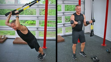 20 Minute Fitness Series - All Arms Superset with TRX and Weights by John Garey TV