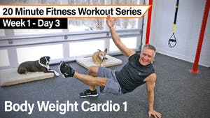 Instant Access to 20 Minute Fitness Workout Series - Body Weight Cardio 1 by John Garey TV, powered by Intelivideo