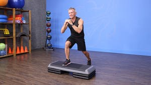 Instant Access to Beginner Step - Lower Body Strength and Cardio Workout by John Garey TV, powered by Intelivideo