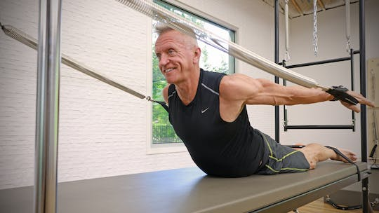 Instant Access to Mixed Equipment - Intermediate Cadillac and Reformer Workout 6-28-18 by John Garey TV, powered by Intelivideo
